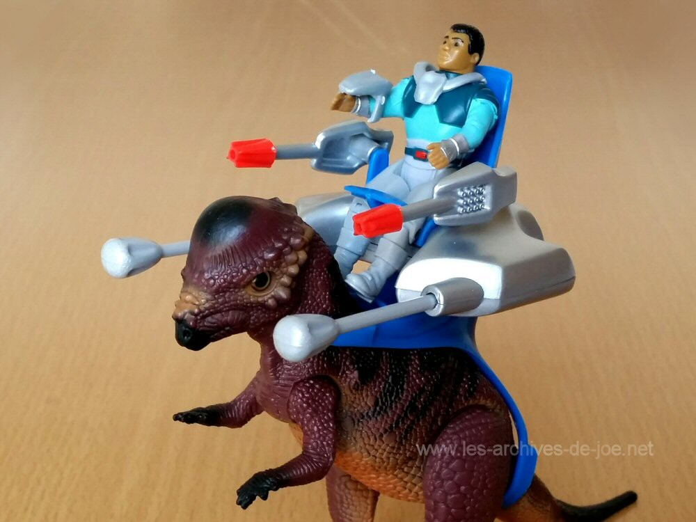 Dino-Riders Pachycéphalosaure avec Tagg