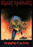 Iron Maiden Carte Postale - The Number of the Beast