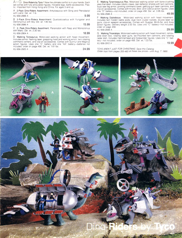 Dino-Riders - Catalogue JC Penney Noël 1988