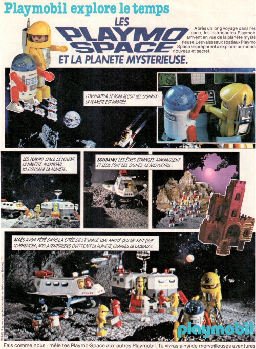 Playmospace - publicité Journal de Mickey 1983 #2