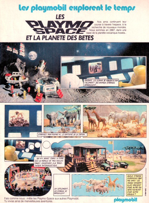 Playmospace - publicité Journal de Mickey 1983 #3