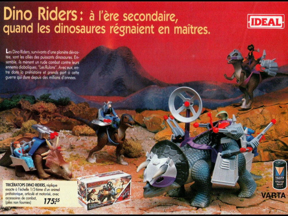 Dino-Riders - Catalogue Cora Noël 1988