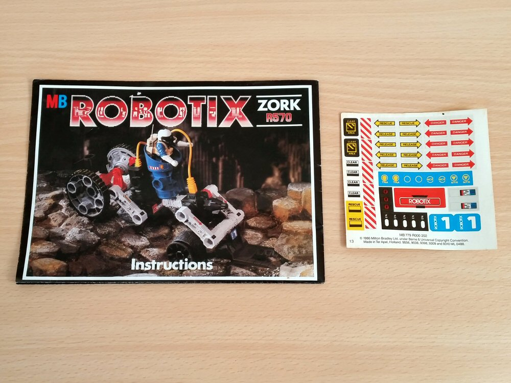 Robotix R570 Zork - notice et stickers