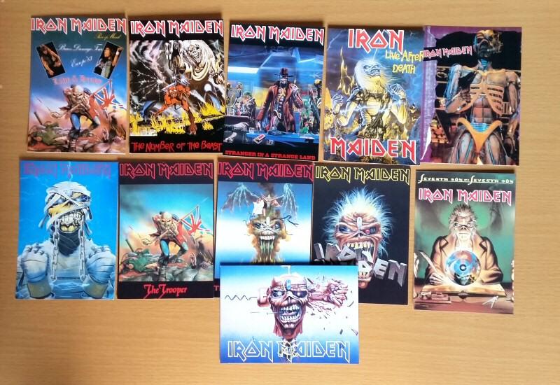Iron Maiden cartes derniers ajouts